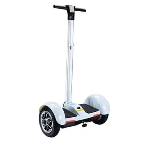 mini segway with handle – white