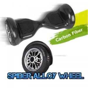 Hoverboard Spider 10 inch - Carbon Black [Bluetooth + Free Carry bag]