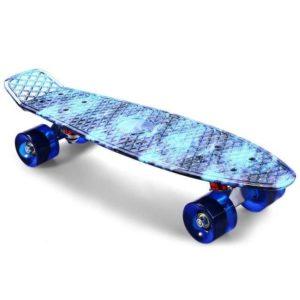 Sky Blue Skateboard Starry Pattern Skate Board Complete Retro Cruiser Longboard