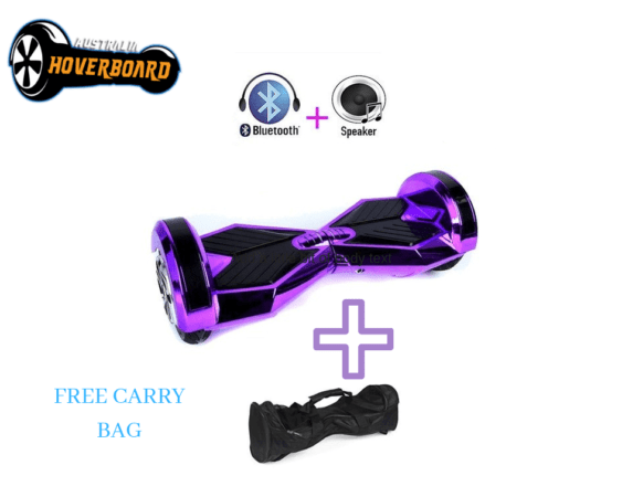 Lamborghini Style Hoverboard 8 Purple Bluetooth Free Carry Bag