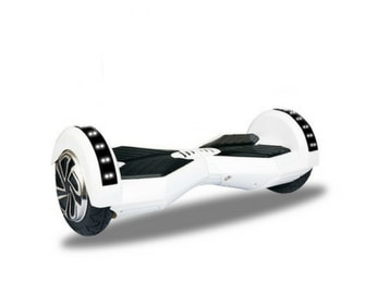"""Lamborghini Style Hoverboard 8"""" - White [Bluetooth + Free Carry Bag]"""