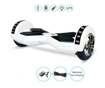 "Lamborghini Style Hoverboard 8"" – White [Bluetooth + Free Carry Bag] 3"