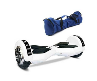"Lamborghini Style Hoverboard 8"" – White [Bluetooth + Free Carry Bag] 1"
