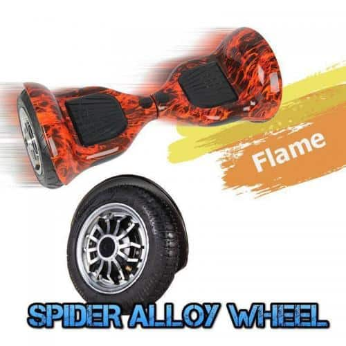Electric Hoverboard – 10 inch – Flame [Bluetooth + Free Carry bag] 2