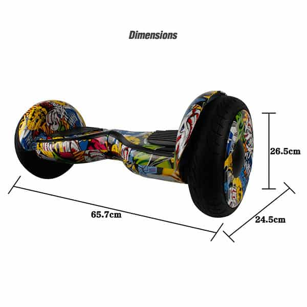 Electric Hoverboard, Self Balancing Scooter -Spider 10 – Graffiti – Bluetooth + Free Carry bag 3