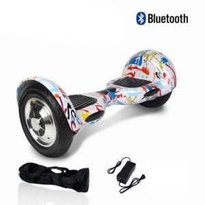 Electric Hoverboard - 10 inch – Multi Colour [Bluetooth + Free Carry bag]