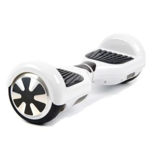 "Smart Electric Self Balancing Scooter 6.5"" - White [Bluetooth + Free Carry Bag]"