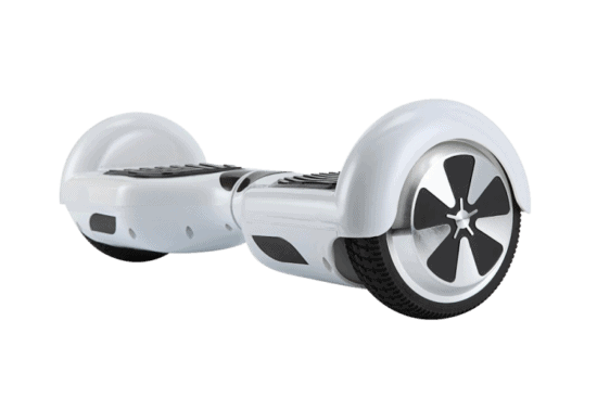 Electric Hoverboard, Self Balancing Scooter - Classic White