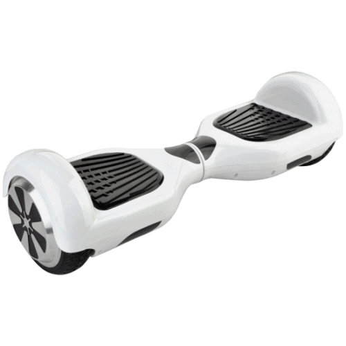 """Smart Electric Self Balancing Scooter 6.5"""" - White [Bluetooth + Free Carry Bag]"""
