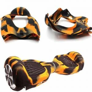 hoverboard skin orange + black