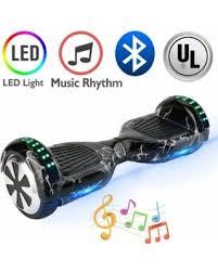 6.5 inch lighting black hoverboard with bluetooth