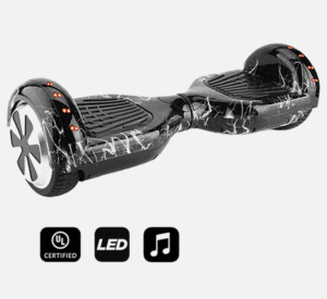 small size hoverboard black lighting style