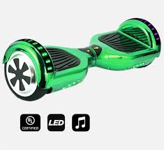 Hoverboard Green Chrome Colour02