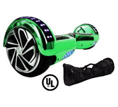 Hoverboard Green Chrome Colour03