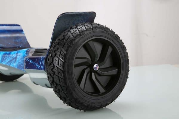 Off road blue galaxy hoverboard wheel